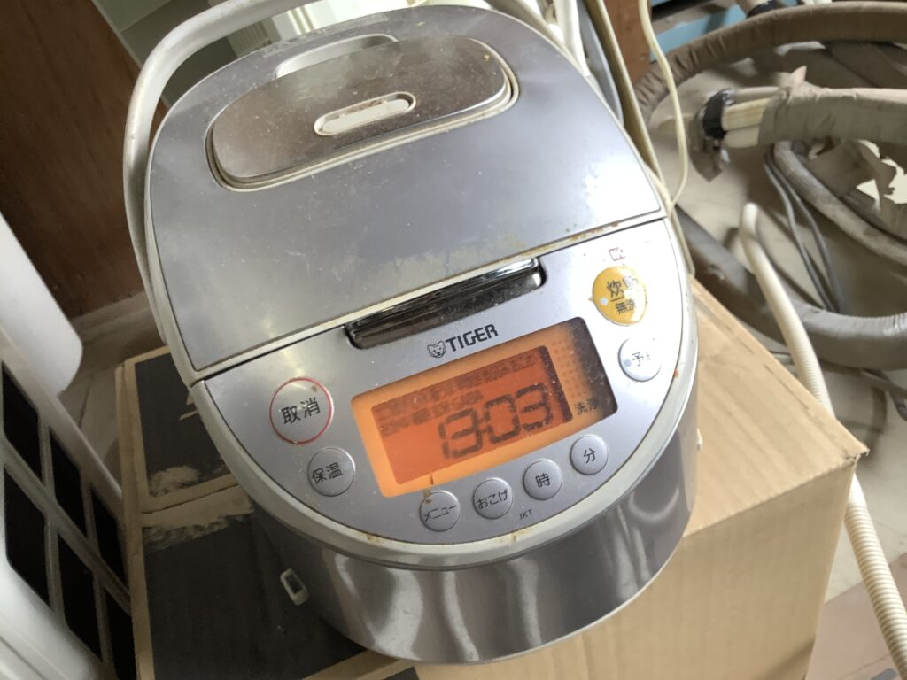 岡山市内で回収した炊飯器