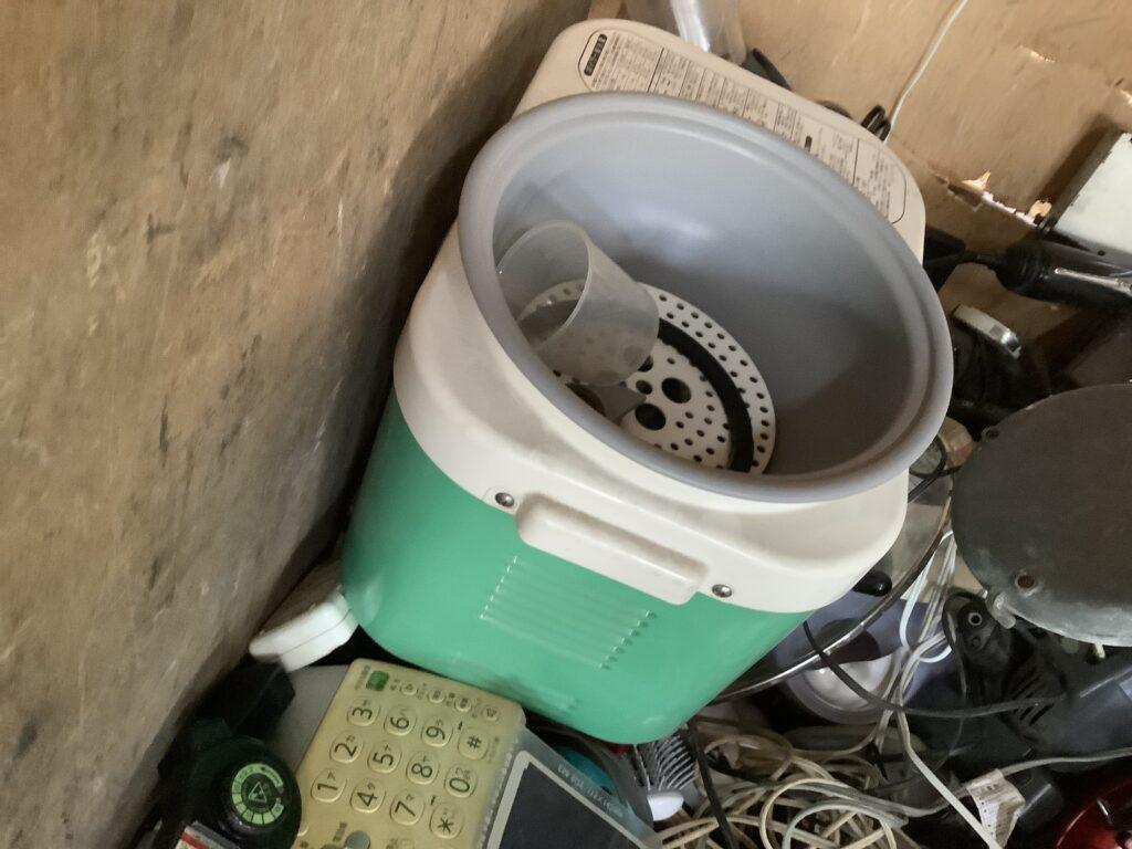 井原市で回収した餅つき機
