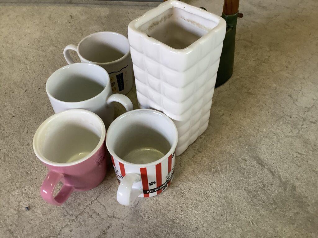 岡山市内で回収した食器
