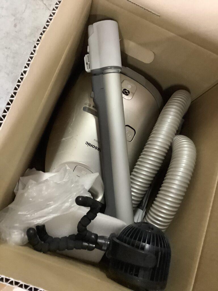 岡山市内で回収した掃除機