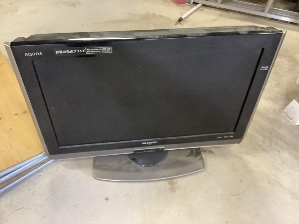 岡山市で回収したテレビ