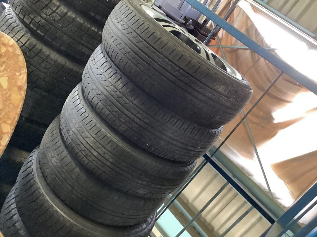 岡山市内で回収したタイヤ