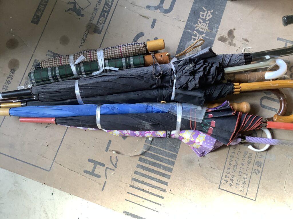 岡山市内で回収した傘