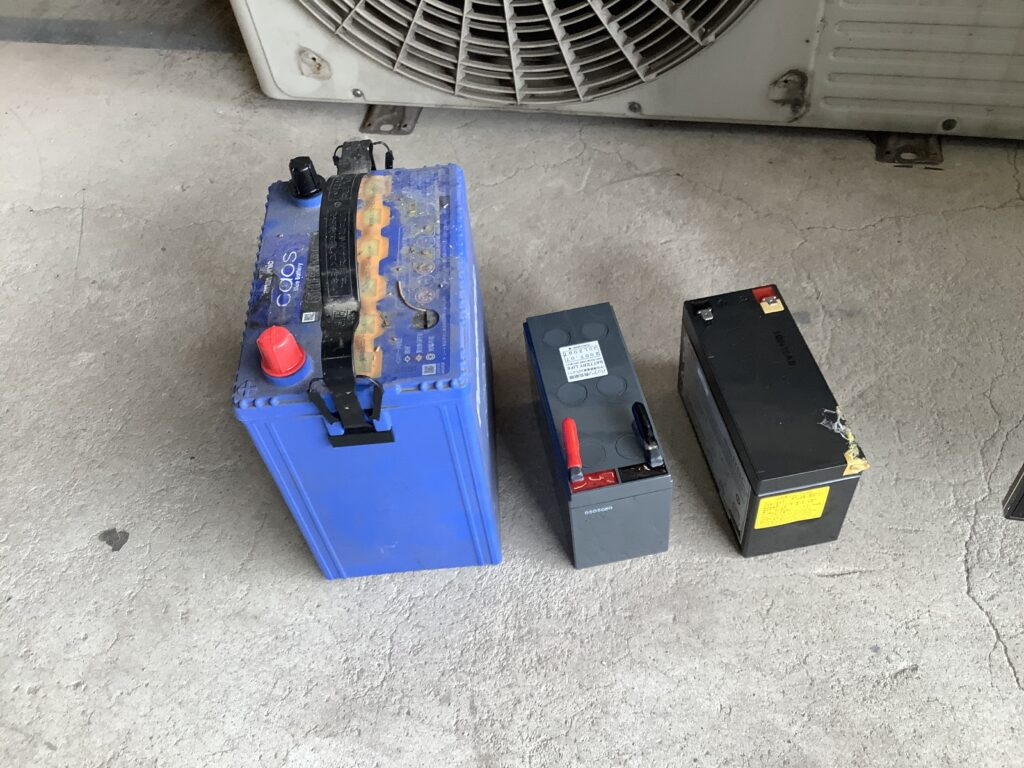 岡山市内で回収したバッテリー