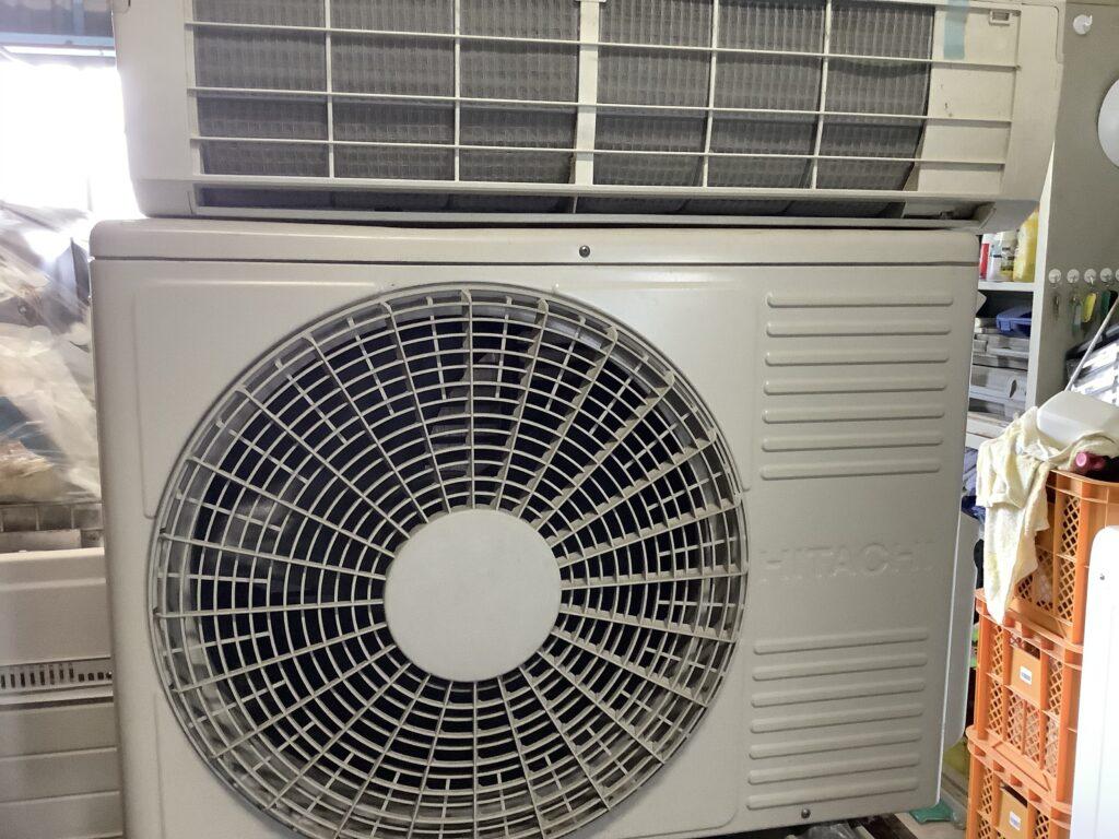 岡山市で回収したエアコン