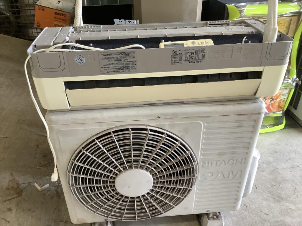 岡山市内で回収したエアコン