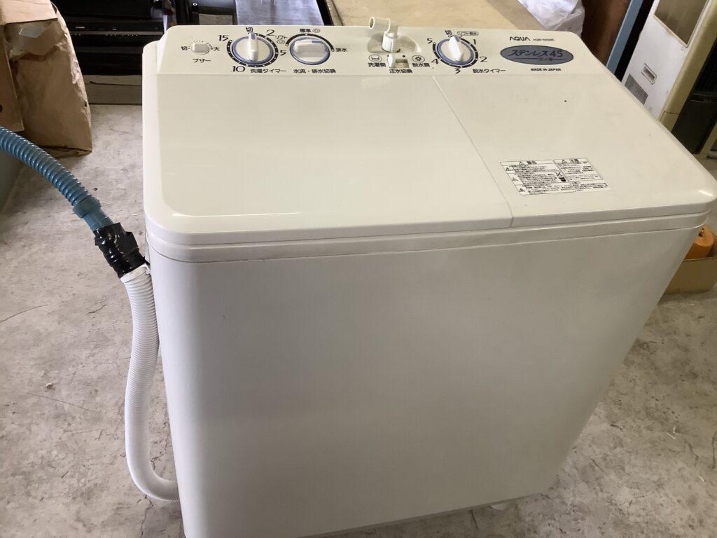 岡山市内で回収した洗濯機