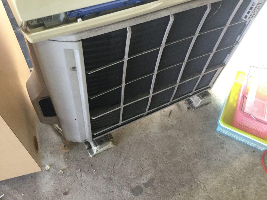笠岡市笠岡でのエアコン取り外しからエアコン回収、処分
