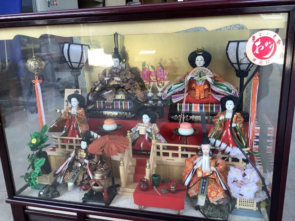 岡山市内で回収した雛人形