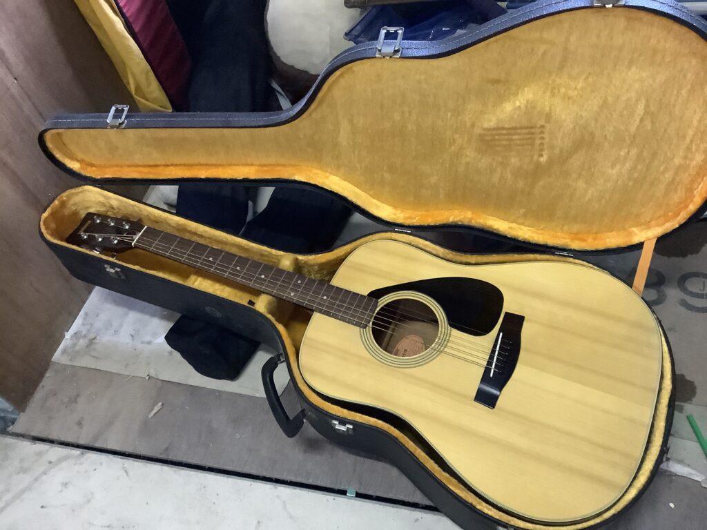 岡山市内で回収したギター