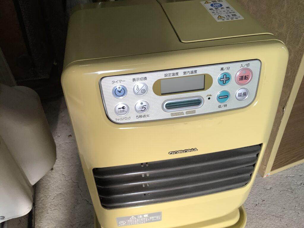 岡山市内で回収したヒーター