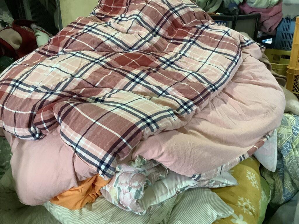 岡山市内で回収した布団
