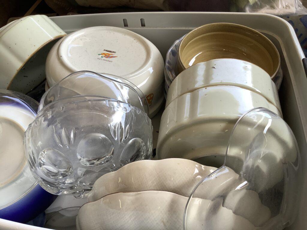 岡山市内で回収した大量の食器