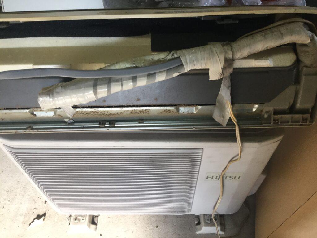 笠岡市笠岡でのエアコン取り外しからエアコン回収
