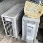 岡山市新屋敷で回収したエアコン二台