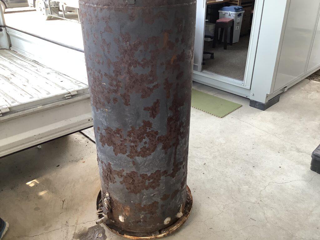 岡山市津高で回収した温水器