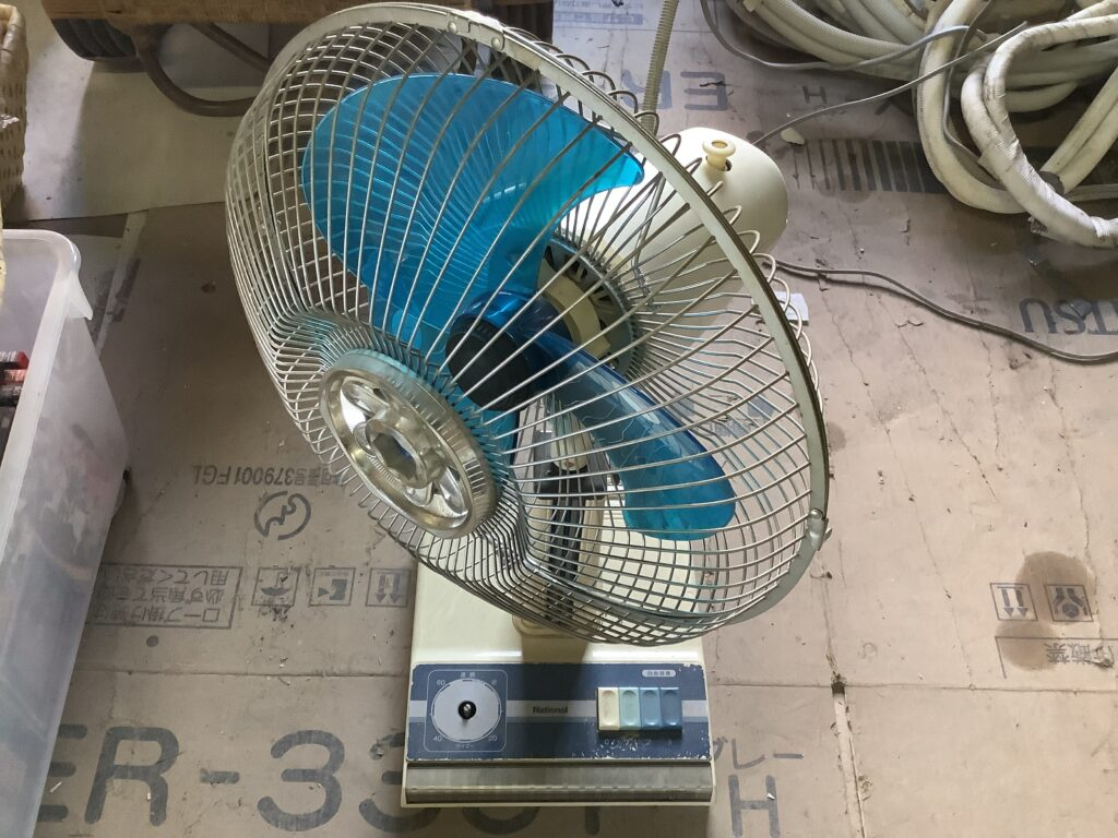 北区新屋敷で回収した扇風機