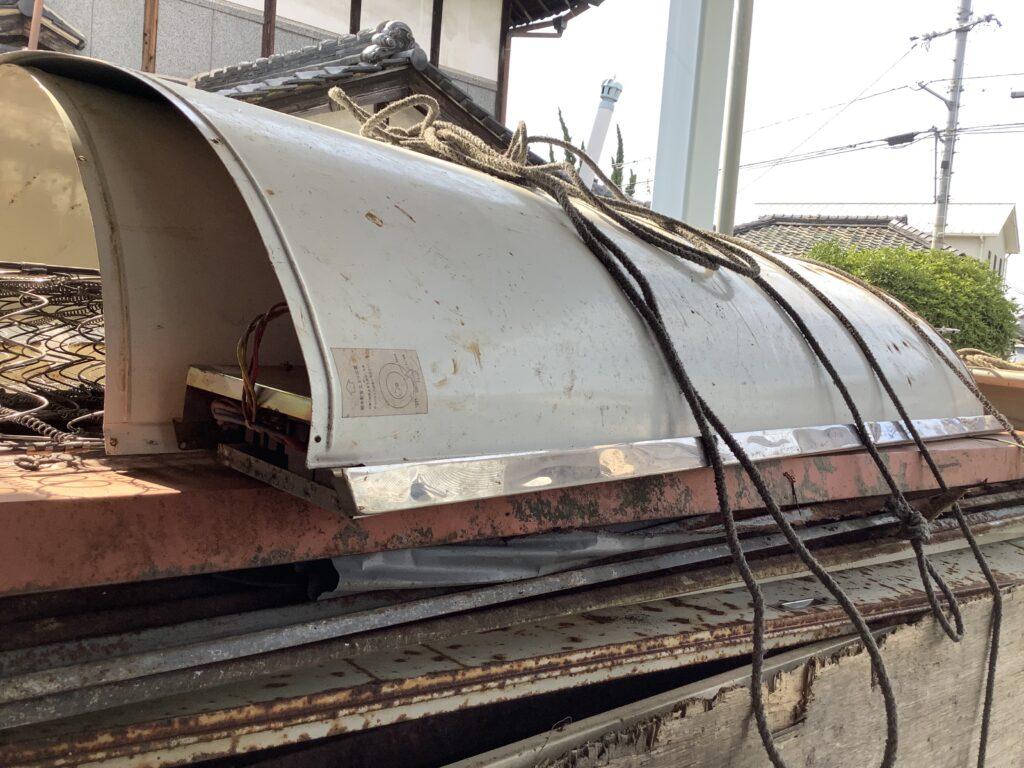岡山市津高で解体した倉庫