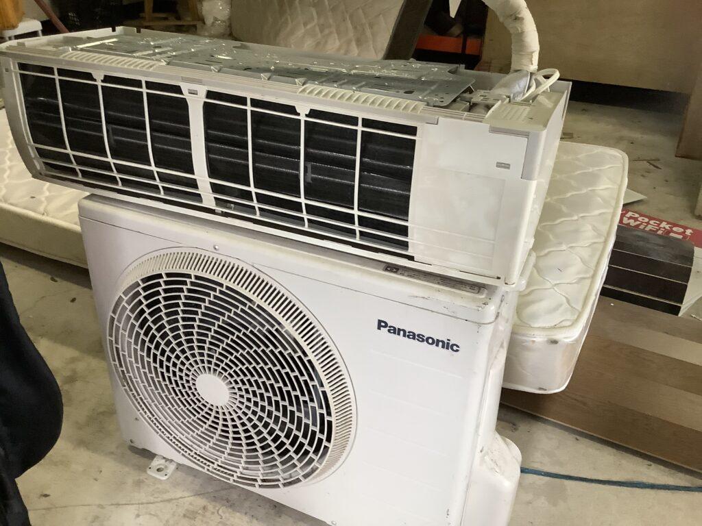 赤磐市で回収したエアコン
