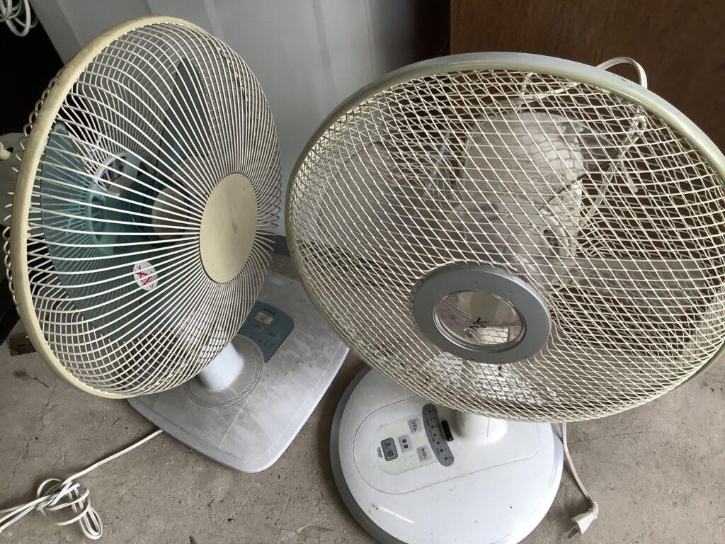 岡山市北区東古松で回収した扇風機