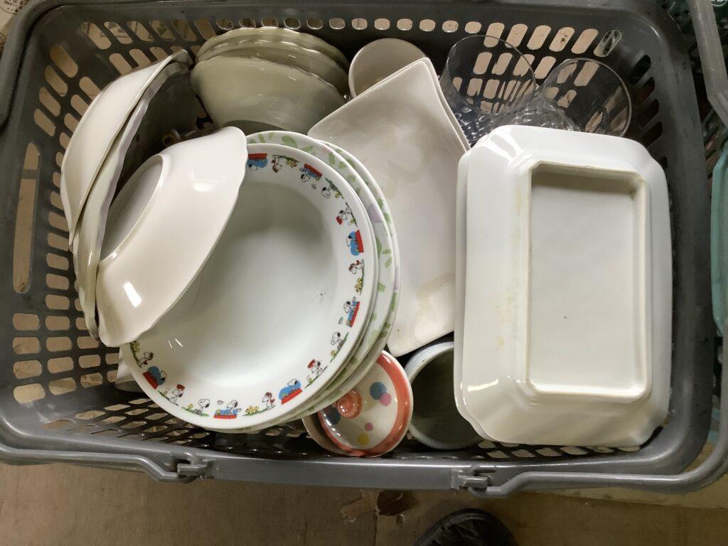 岡山市北区大元で回収した食器