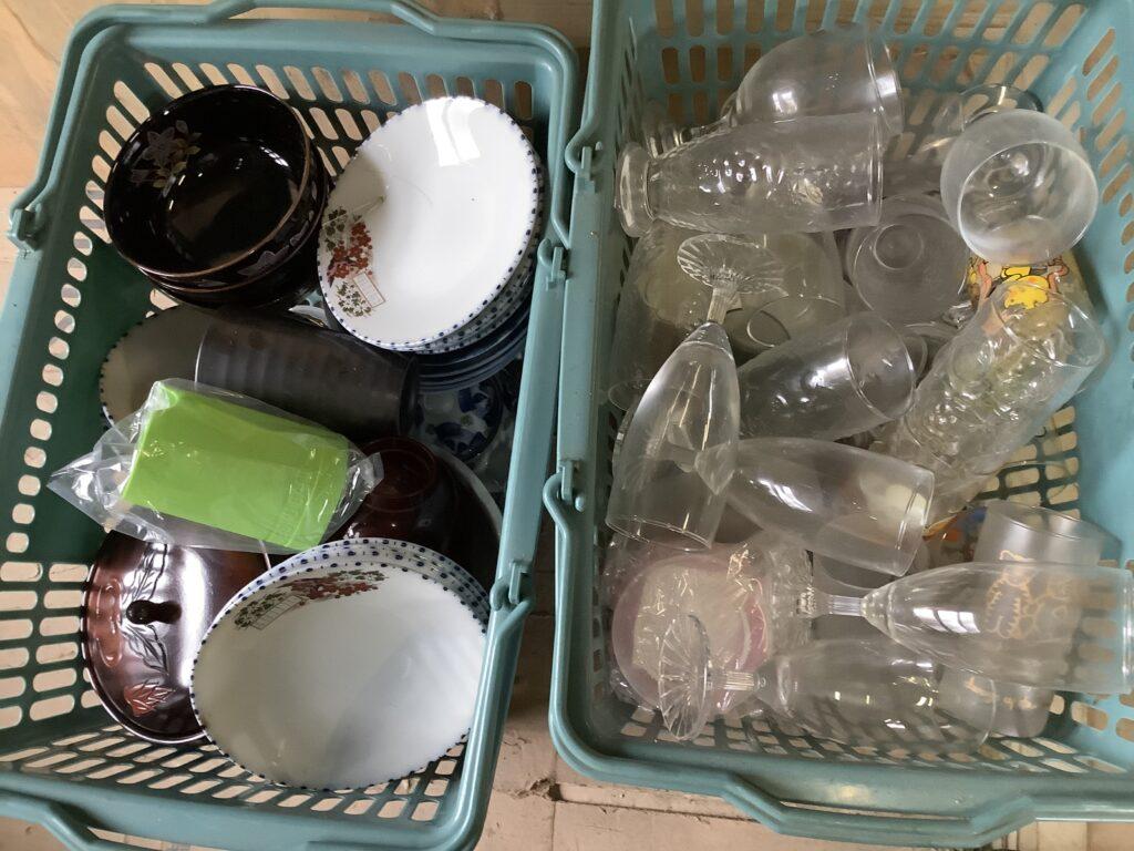 岡山市庭瀬で回収した食器