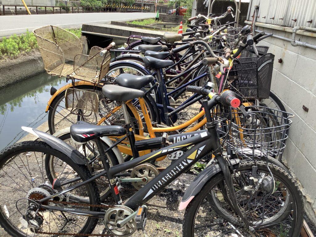 岡山市北区伊島町で回収した自転車
