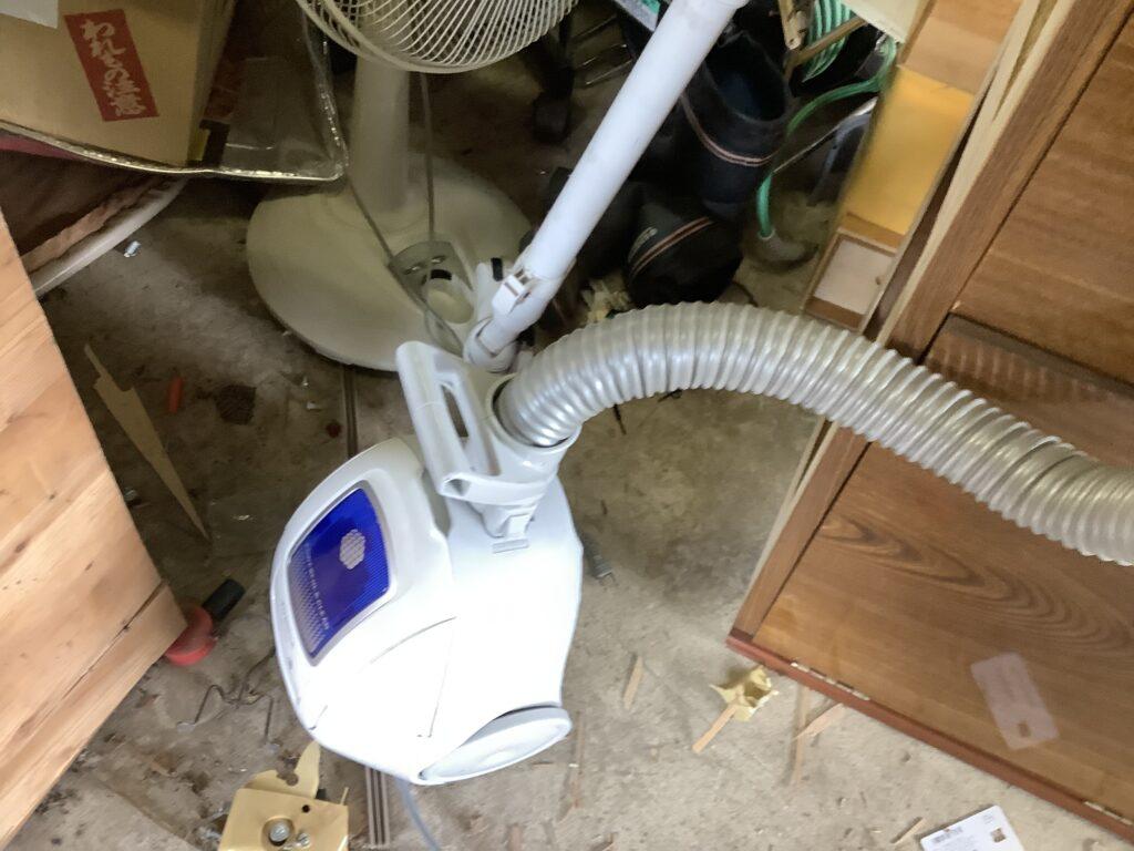 岡山市中区西川原で回収した掃除機