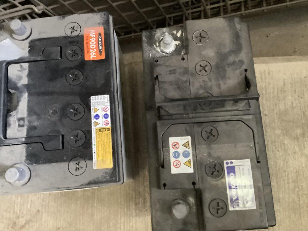 岡山市浦安本町で回収したバッテリー