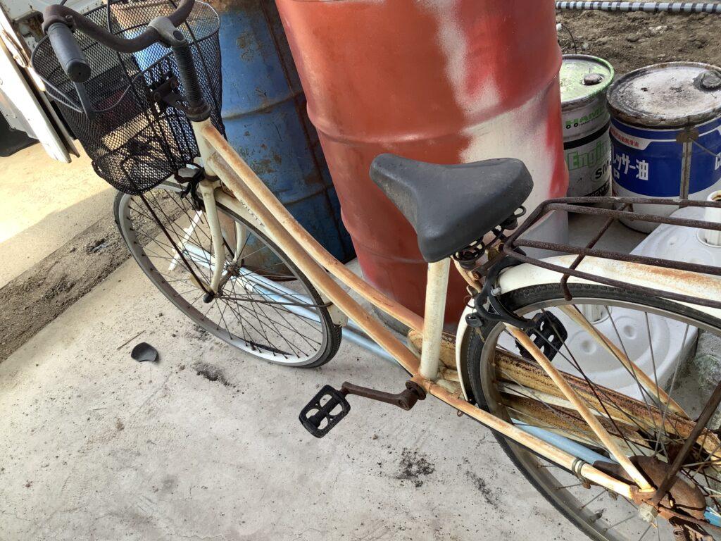 テレビと同時に不用品回収した自転車