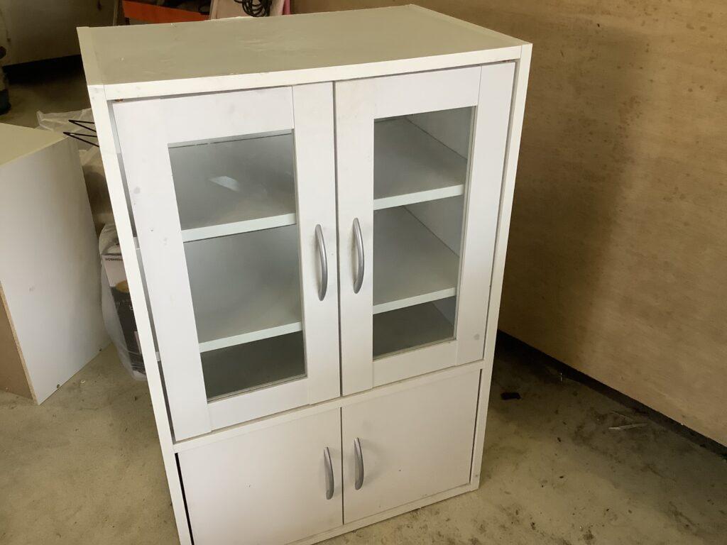 岡山市北区東古松で回収した食器棚