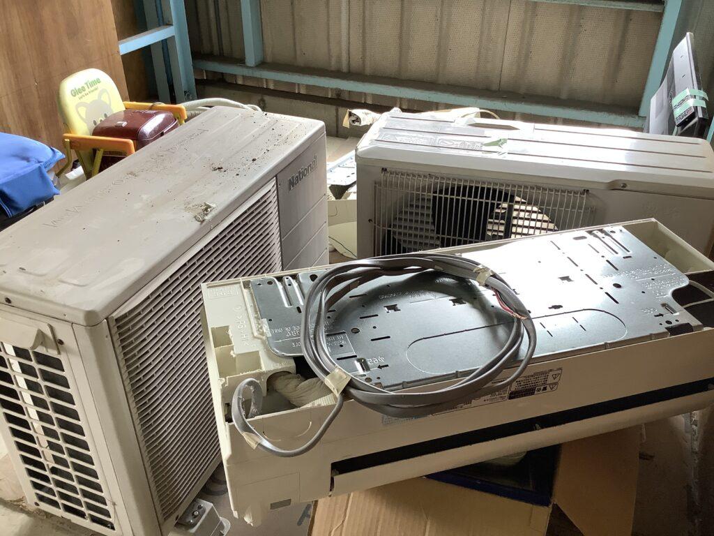 テレビと同時に不用品回収したエアコン