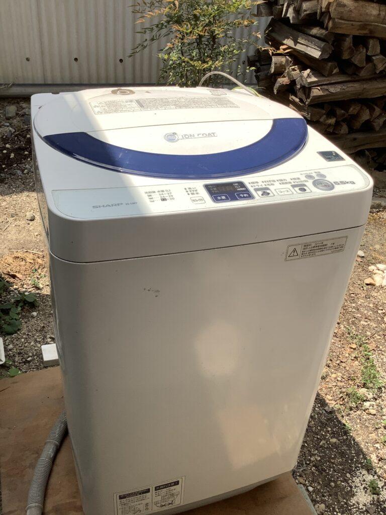岡山市北区一宮で回収した洗濯機