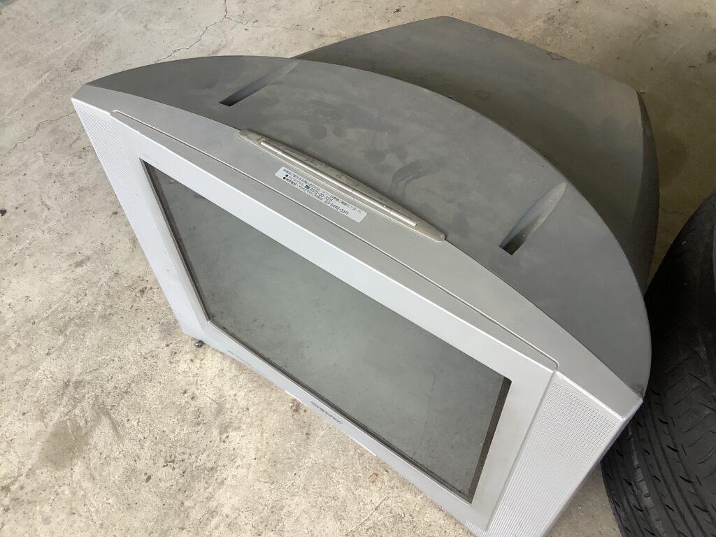 岡山市東区瀬戸町で回収したブラウン管テレビ