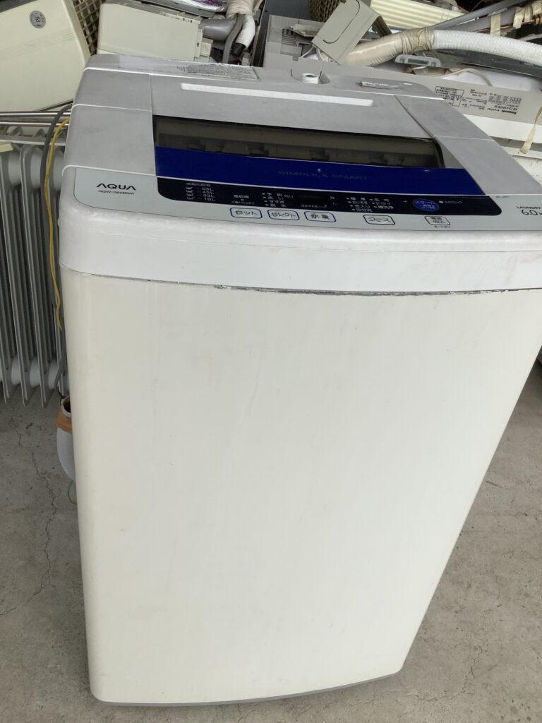 岡山市北区花尻で回収した洗濯機