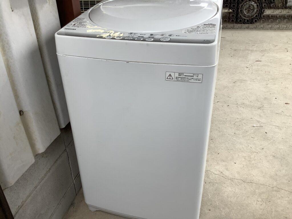 岡山市中区高島で回収した洗濯機