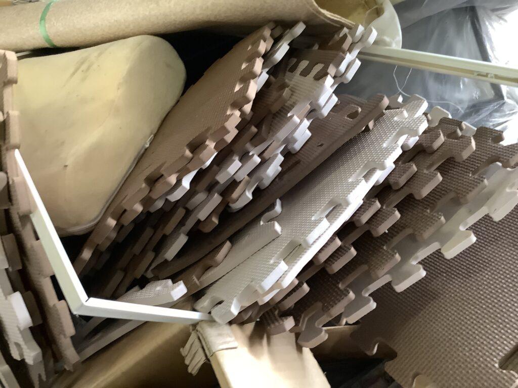 岡山市南区大福で回収したタイルマット