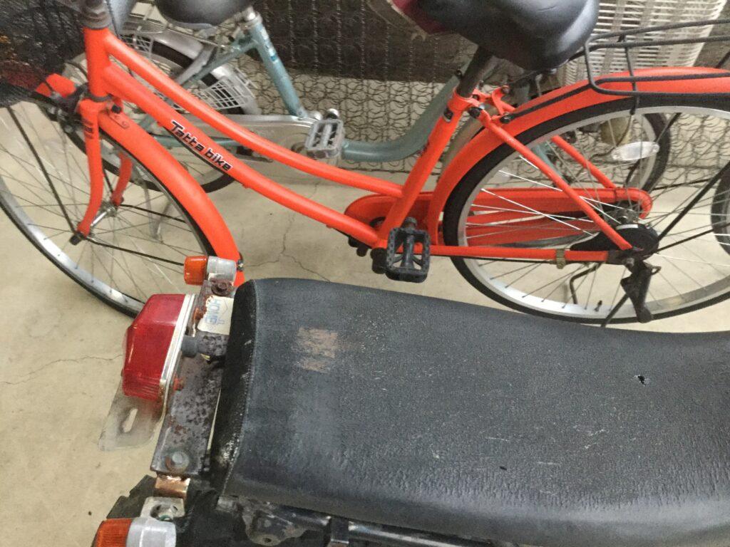 岡山市北区で自転車の回収