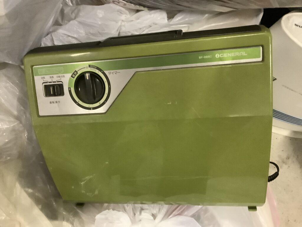 岡山市北区花尻で回収した布団乾燥機