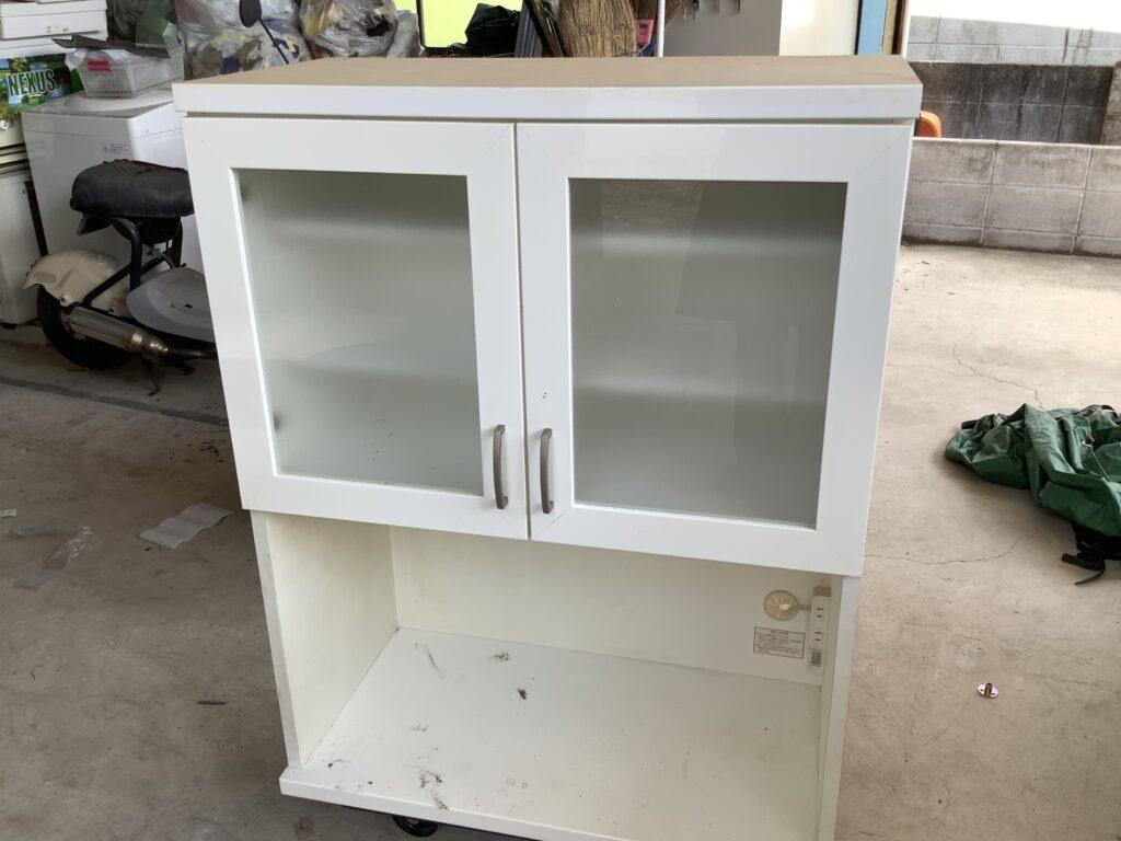 岡山市南区福富で回収した食器棚