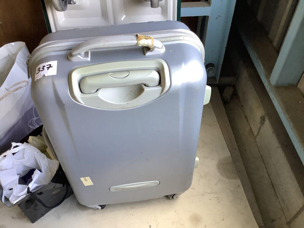 岡山市北区辰巳で回収したキャリーケース