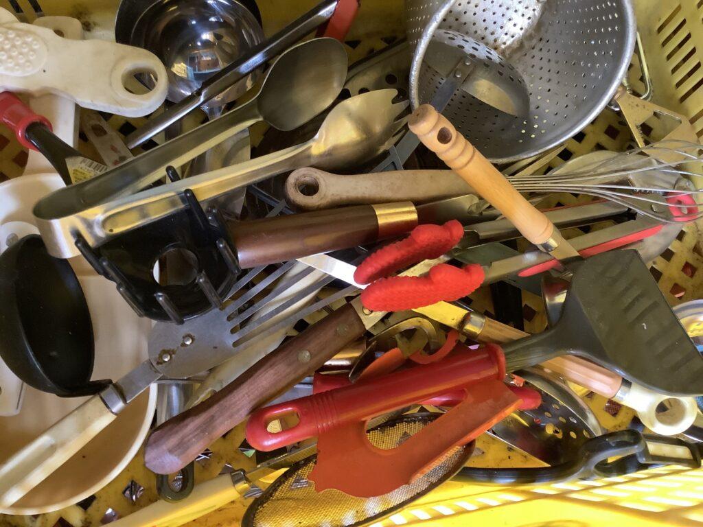 岡山市北区庭瀬で回収した調理小物