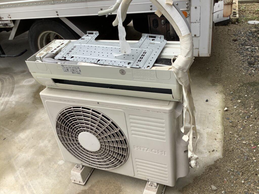 岡山市南区大福で回収したエアコン
