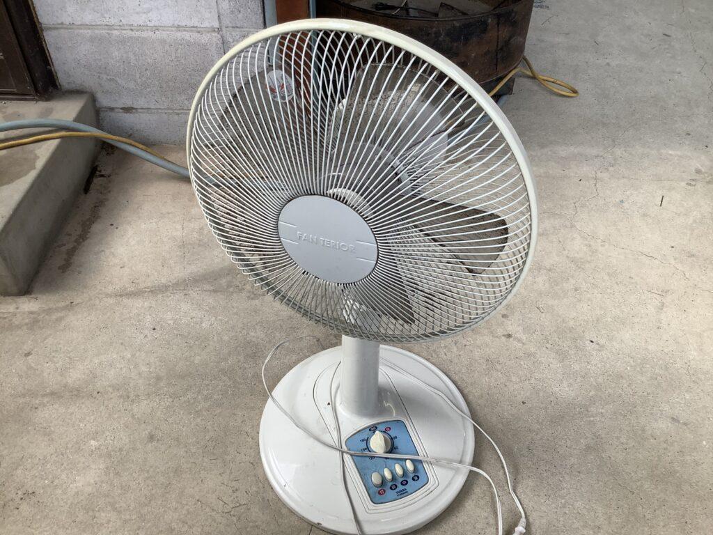 岡山市北区野田屋町で回収した扇風機
