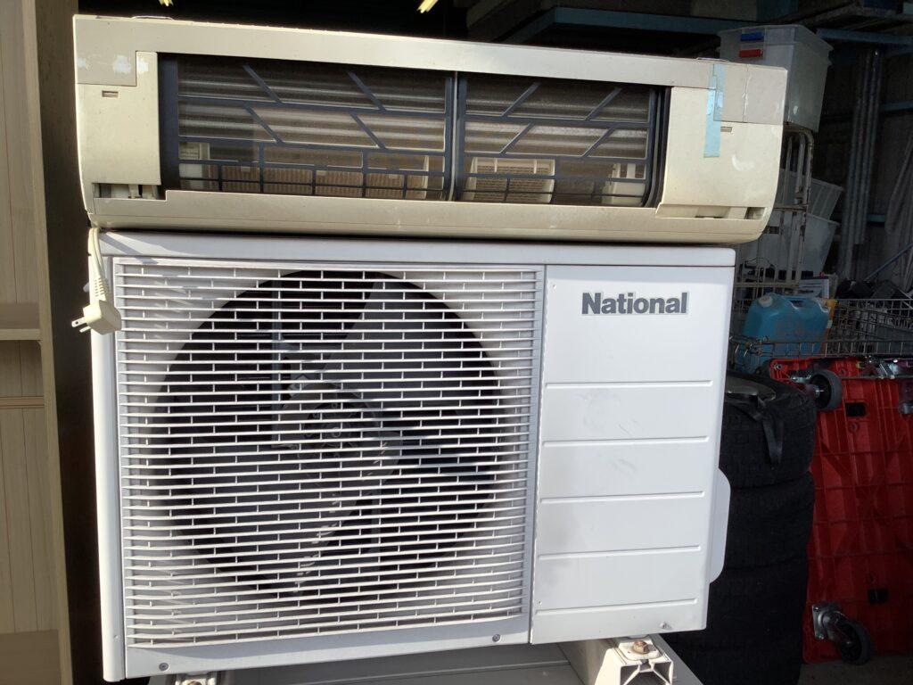 岡山市南区福浜町で回収したエアコン