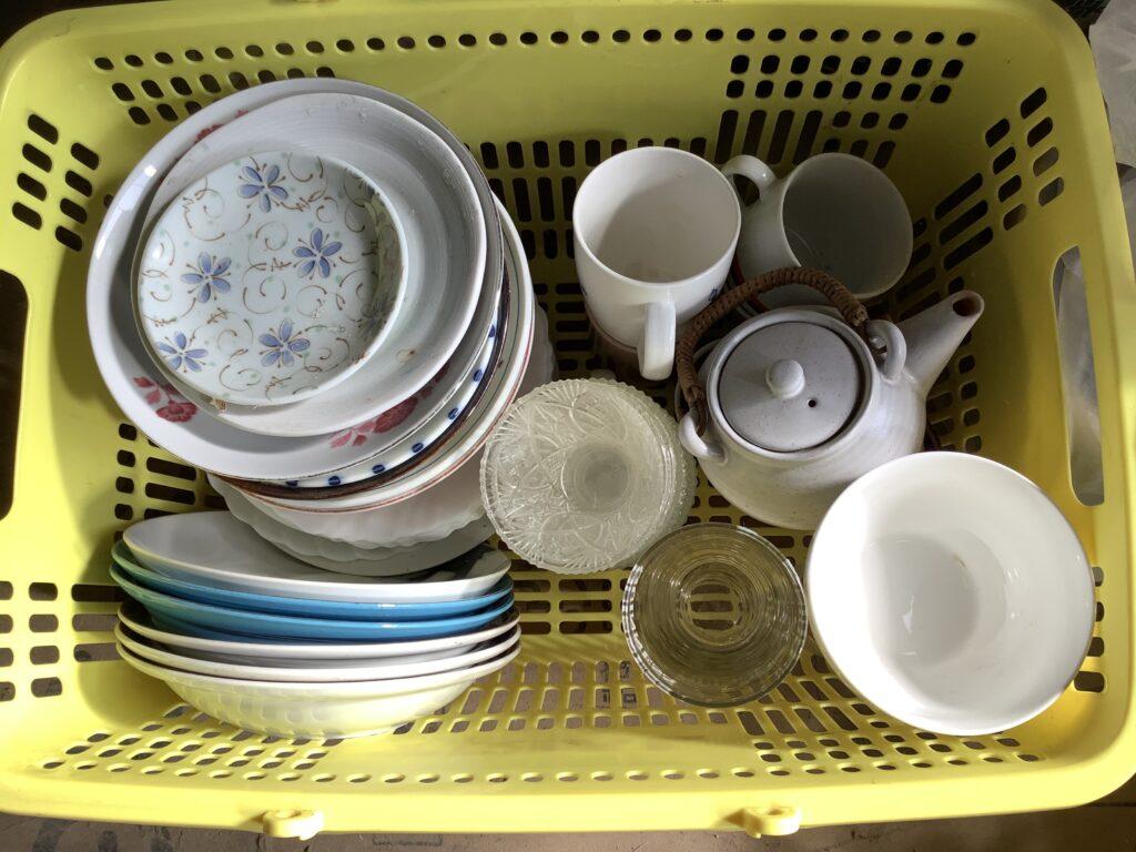 岡山市北区北長瀬で回収した食器