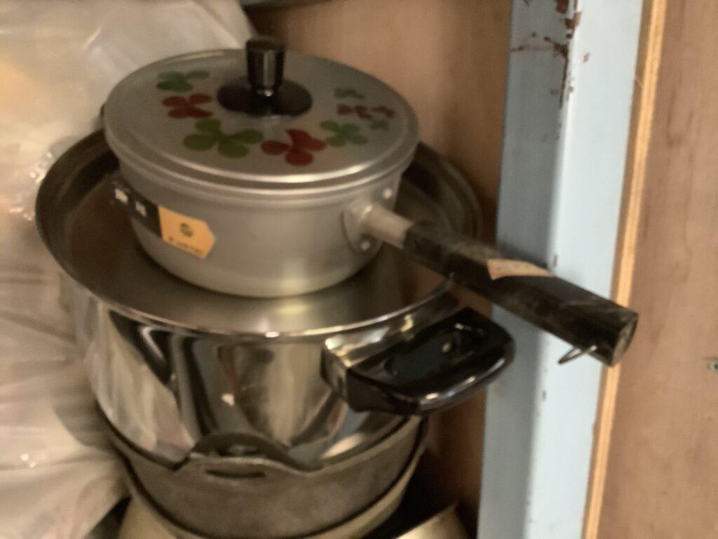 岡山市中区雄町で回収した鍋