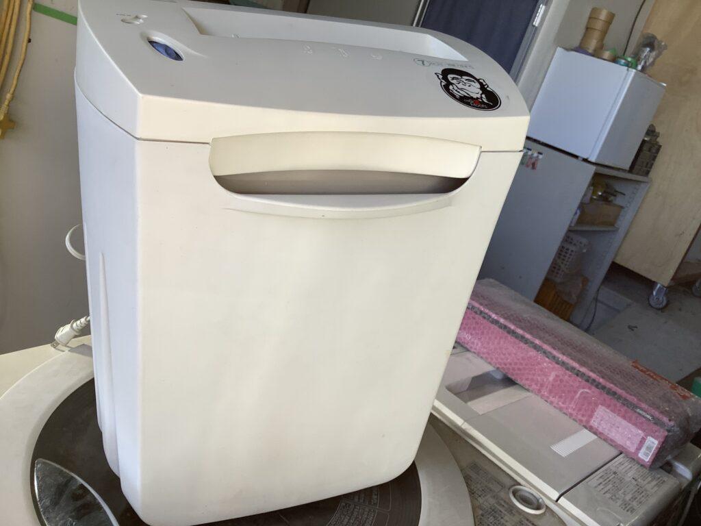 岡山市南区大福で回収したシュレッダー