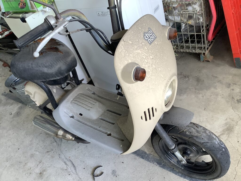 岡山市北区青江で回収したバイク