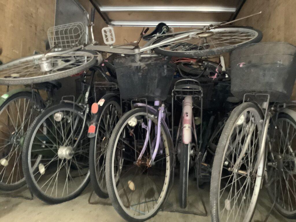 岡山市北区青江で回収した自転車